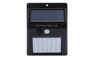 Set 3 lampi solare de perete cu senzor de miscare
