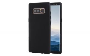Husa Samsung Galaxy Note 8 Flippy Full Cover 360 Negru + Folie de protectie