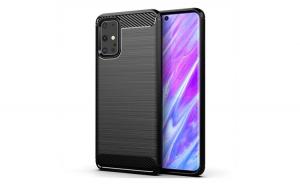 Husa de protectie, Carbon Case, Samsung Galaxy S20 Ultra, Negru