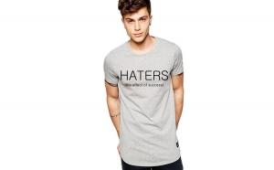 Tricou gri barbati  - Haters
