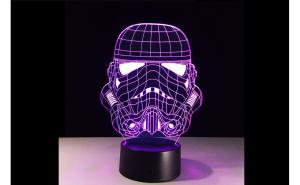 Lampa LED 3D Star Wars STORMTROPPER