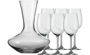 Set 6 pahare pentru vin si decantor