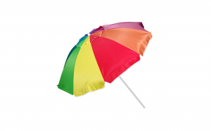 Umbrela plaja antivant, multicolor, diametru 220 cm