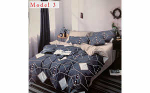 Lenjerie de pat, 2 persoane, 6 piese