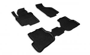 Covoare / Covorase / Presuri cauciuc stil tip tavita VW Golf VI 2008-2012 (5 bucati)  - SEINTEX