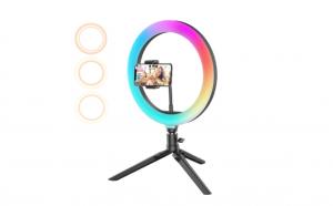 Lampa Circulara LED, 120 Leduri, 10 culori de lumina, telecomanda