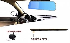 Oglinda retrovizoare D803 cu camera HD fata-spate, display 4.3 inch, senzor miscare, la 299 RON de la 599 RON
