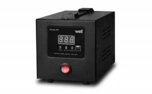 Stabilizator de tensiune cu releu 500 VA 300W Negru Well AVR-REL-POWERUP500-WL