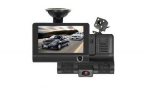 Camera Video Auto Tripla DVR Premium Reflection Vision® L300-1, Full-HD 3 Camere - Fata/Spate/Interior, Ecran 4'', G Senzor 170 grade + Card MicroSD 32GB