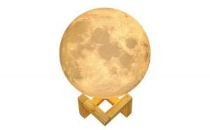 Lampa veghe Luna Moon Lamp , imprimata 3D, reincarcabila, 2 culori