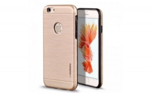 Husa Apple iPhone 6 Plus/6S Plus Motomo V5 Roz-Auriu