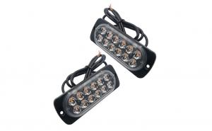 Stroboscoape 12 LED, lumini de avertizare galbene pentru platforma, ATV, Tractor, Jeep, Off Road, set 2 bucati