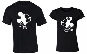 Set de tricouri pentru cupluri Mickey/Minnie, la 99 RON in loc de 200 RON