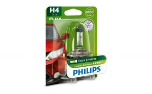 Bec far H4 60/55W 12V longer life ecovision Philips