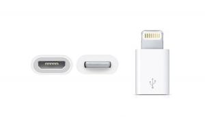 Adaptor Lightning de la Micro USB la Apple iPhone, culoare Alb TKG-788