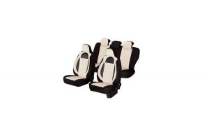 Huse scaune auto SEAT TOLEDO 2000-2010  dAL Racing Bej,Piele ecologica + Textil