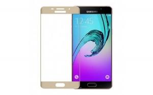 Folie Sticla Samsung Galaxy A3 2016 Flippy Full Face Auriu
