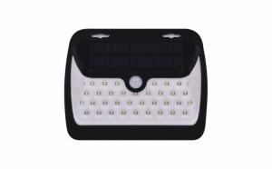 Lampa LED cu acumulatori, incarcare solara si senzor de lumina, protectie IP 65, negru