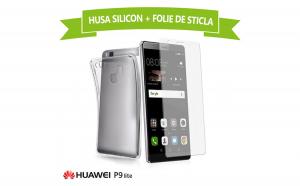 Set Protectie HUAWEI P9 Lite (Folie Sticla + Husa Silicon UltraSlim), la 30 RON in loc de 75 RON