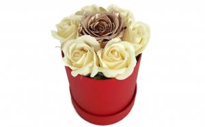Trandafir criogenat auriu si de sapun, Martie, luna femeii, Martisoare & Flori