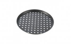 Tava perforata pentru pizza, 26x1.4 cm, Negru