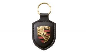 Breloc Chei Piele Negru OE Porsche
