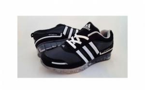 Adidasi Sport cu talpa siliconata Negru-Alb la doar 139 RON