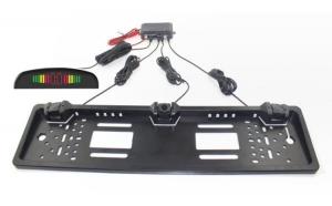 Senzori parcare pe suportul de numar cu display LED T15