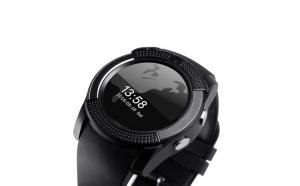 Smartwatch Usmart V8 ,cartela SIM,camera,notificari facebook,whatsApp,negru
