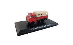 Macheta de colectie, masina de pompieri, LF 8-STA Robur LO 1800-A, rosu, scara 1:72