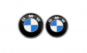 Set Emblema capota si portbagaj BMW, 82/74mm