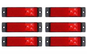Set 6 lampi gabarit 130x32 cu 3 LED-uri