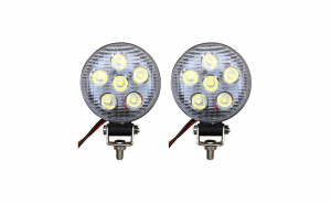 Set 2 proiectoare led Mini, Off Road, diametru 8cm, 18W, 6 LED