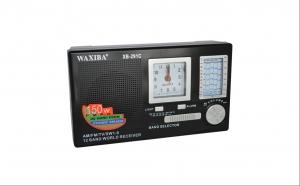 Radio portabil profesional 12 benzi cu ceas Quartz si acumulator