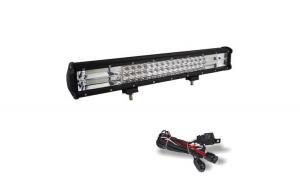 Led bar 288w+kit cabluri cu releu si buton, lumina 7D, lumina spot si flood alimentare 12-24w
