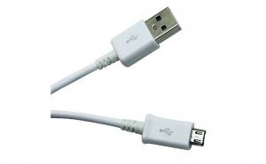 Cablu Date si Incarcator Micro Usb Alb