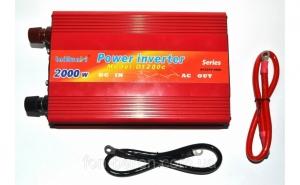 Invertor tensiune, 12V-220V Lairun, 2000 W, putere continua 1200 W