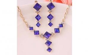 Set bijuterii fashion Blue Crystal