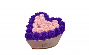 Trandafiri din sapun parfumati - inimioara 22 cm, i1-01