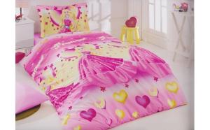 Lenjerie de pat copii Printesa Disney, Dimensiune 160 x 200, Bumbac
