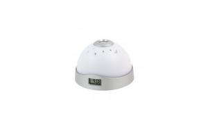 Ceas digital cu poriectie LED, 2 in 1, alb