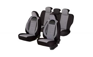 Set huse scaun racing gri – negru