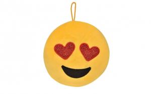 Jucarie de plus, model perna emoji, 22 x 7 cm, galben