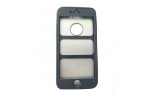 Husa Apple iPhone 8 Plus Flippy Full Silicone 360 Negru + Folie de protectie