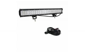 Pachet Led Bar 144w, 14400 LM, 12-24V si Kit cabluri releu siguranta buton interior