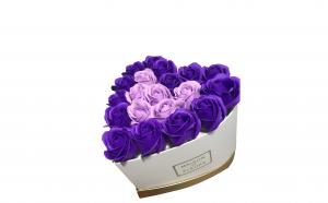 Trandafiri din sapun parfumati - inimioara 22 cm, i1-04