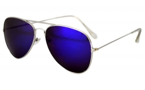 Ochelari de soare Aviator Albastru - Argintiu