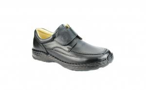 Pantofi Gitanos din piele naturala, 714 Culoare-Negru, Maro