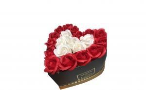 Trandafiri din sapun parfumati - inimioara 22 cm, i1-05