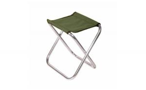 Scaun pliabil , de culoare verde , pentru drumetii sau pescuit